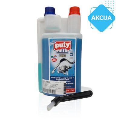 Komplet:detergent za čiščenje ostankov mlekaščetka za čiščenje grupe